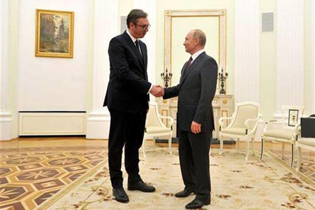 Vucic i Putin/Tanjug
