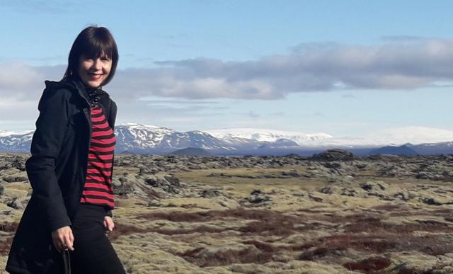 Ljiljana Maletin na poljima lave.