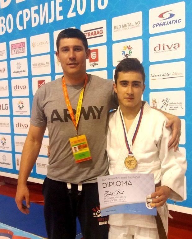 Balaz Nadj i trener Vanja Samu