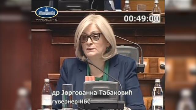 Tabaković u Skupštini Srbije Foto: Tanjug