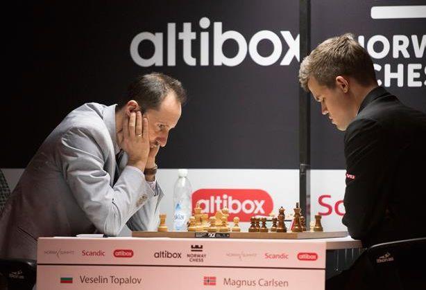 Meč Topalov- Karlsen Foto: Altibox Norway Chess 2018 © Altibox Norway Chess