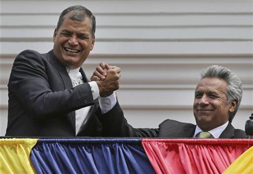 Bivši predsednik Ekvadora Rafael Korea  Foto: AP Photo/Dolores Ochoa