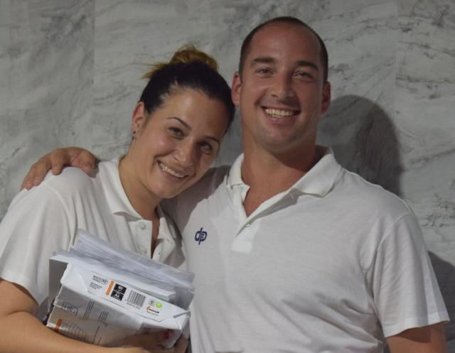 Vanja Bokun Popović sa suprugom vaterpolistom Nikolom Popovićem  Foto: privatna arhiva