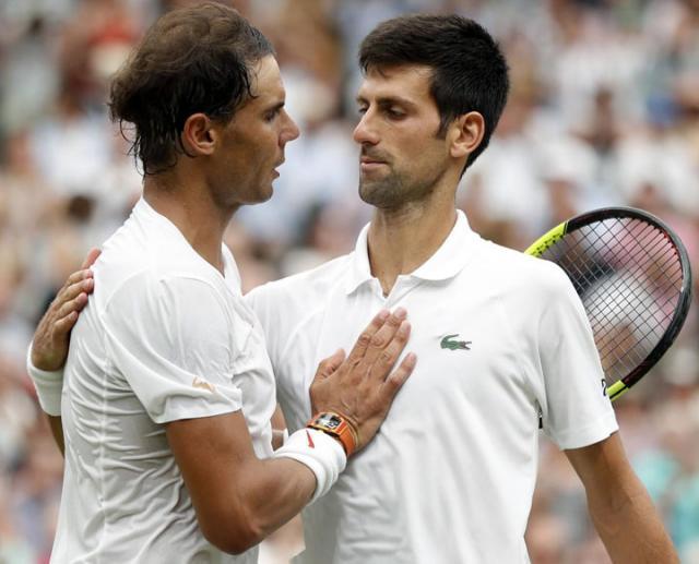 Nadal i Djokovic Vimbldon 2018/Fonet