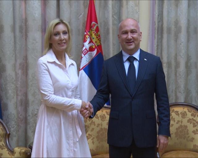 Zaharova i Popović Foto: Tanjug