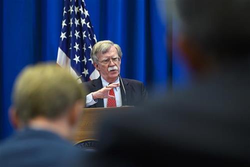 Savetnik američkog predsednika za nacionalnu bezbednost Džon Bolton Foto:  Martial Trezzini/Keystone via AP
