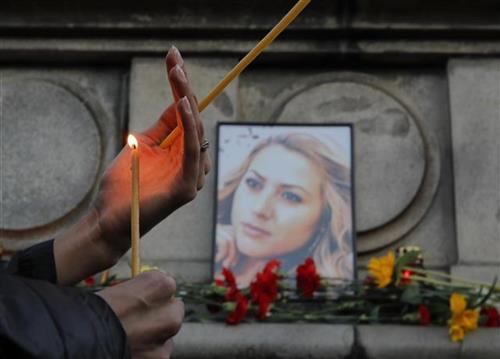 Ubijena bugarska novinarka Viktorija Marinova Foto:  AP photo