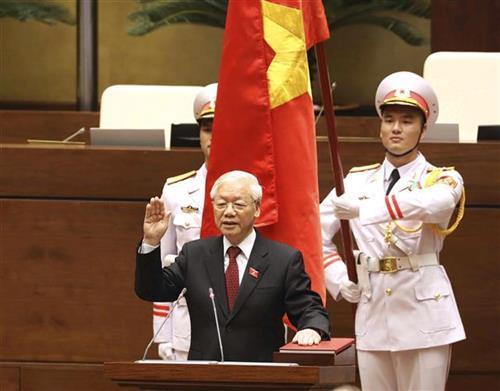 Ngujen Fu Trong novi predsednik Vijetnama Foto: Nguyen Phuong Hoa/ Vietnam News Agency via AP