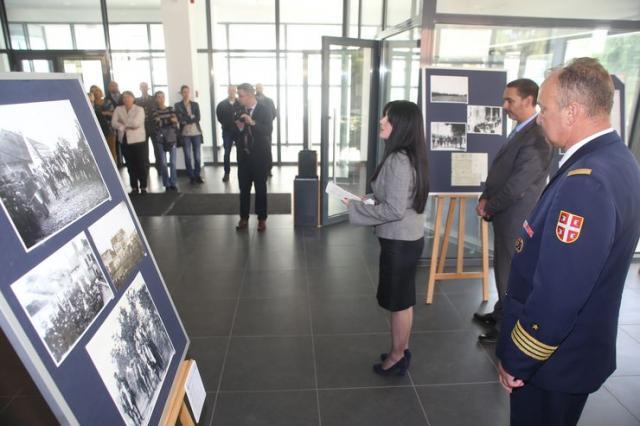 Direktorka Istorijskog arhiva Požarevca Jasmina Nikolić, govori na otvаranju izložbe Foto: B. Lučić