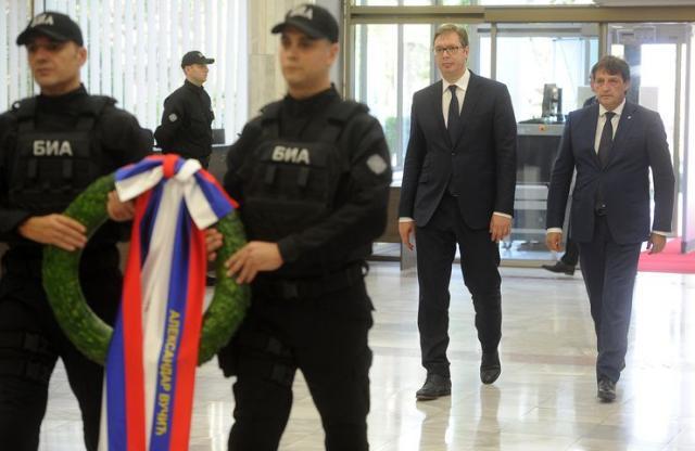 Vučić i Gašić na beležavanju Dana BIA Foto: Tanjug/Dimitrije Goll