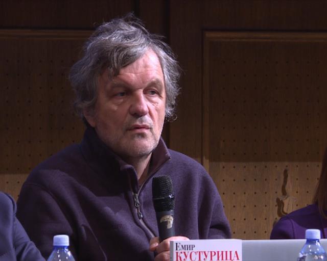 """Emir Kusturica na promociji knjige """"Šta mi ovo treba"""" Foto: Tanjug/video"""