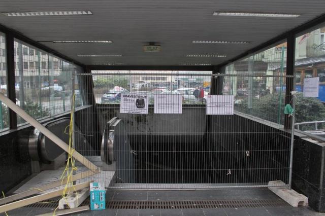 Podzemni prolaz zatvoren do 15. decembra Foto: R. Hadžić