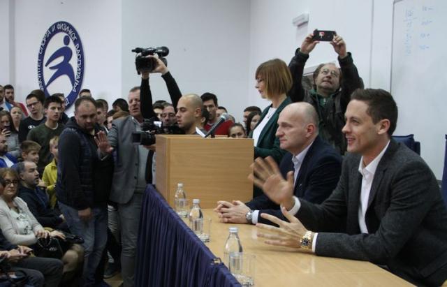 Nemanja Matić bio gost novosadskog Fakulteta sporta i fizičkog vaspitanja Foto: Dnevnik.rs