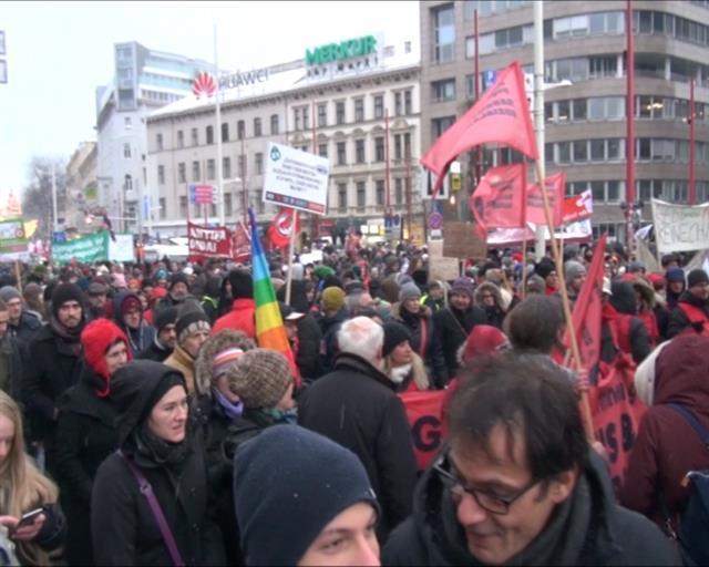 Protesti u Beču foto: Tanjug/video