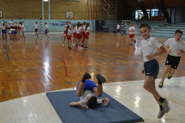 "OŠ ""Đura Jakšić"" u Kaću organizuje brojne sportske aktivnosti Foto: S. Šušnjević"
