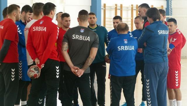 Rukometasi Srbije u Staroj Pazovi/RSS