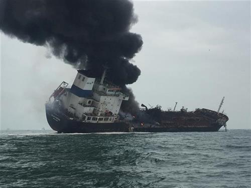Eksplodirao tanker u Hongkongu Foto: AP foto - Hong Kong Government Flying Service via AP