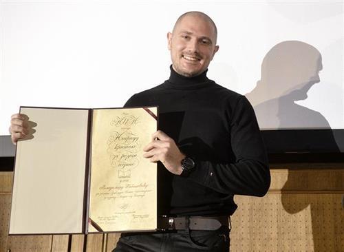 Vladimiru Tabaševiću uručena NIN-ova nagrada Foto: Tanjug
