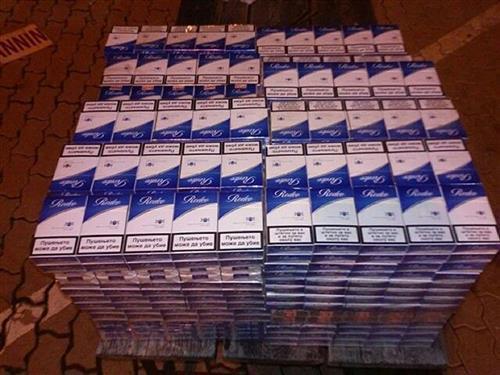 Zaplenjene cigarete Foto: Poreska uprava