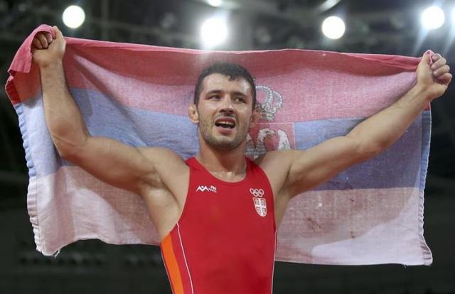 Davor Štefanek osvojio prvu zlatnu olipijsku medalju za srpsko rvanje Foto:RSS