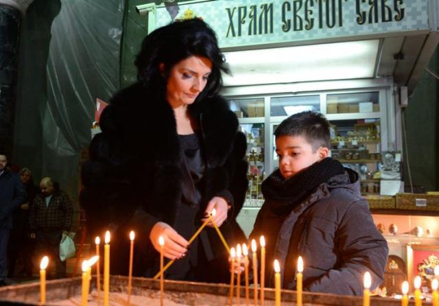 Milena Ivanović sa sinom Bogdanom Foto Tanjug/ Tanja Valic