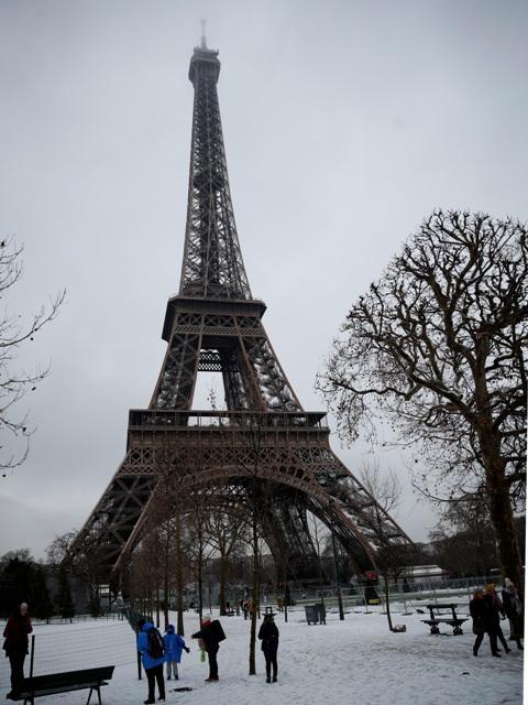 pariz sneg