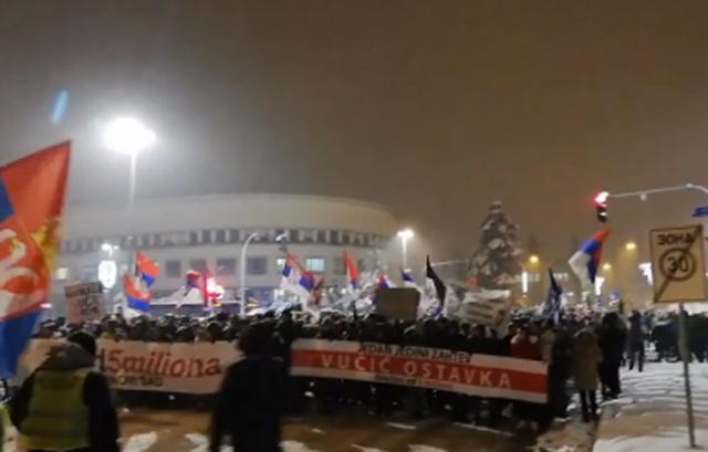Protest 1 od pet miliona u Novom Sadu Foto: Twitter