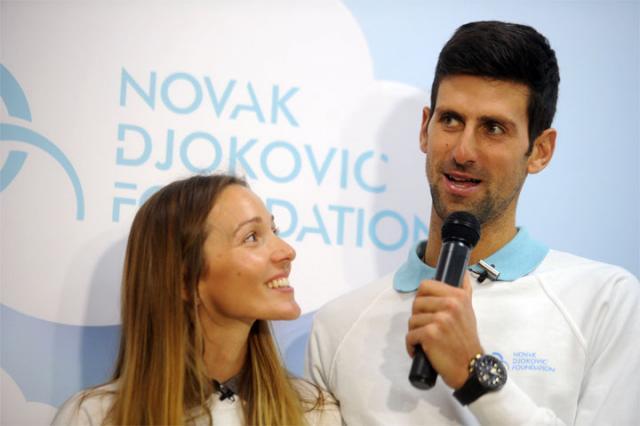 TANJUG/ FILIP KRAINCANIC/ bg/Jelena i Novak Djokovic