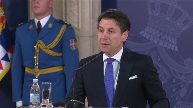 Italijanski premijer Đuzepe Konte Foto: Tanjug/video