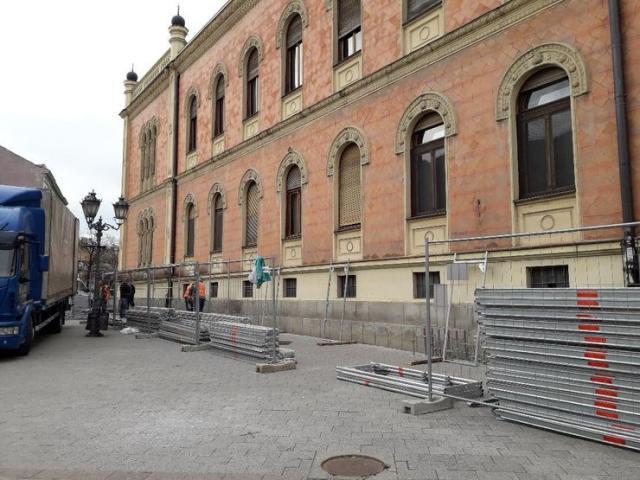 Počinje obnova fasade Vladičanskog dvora foto: L. Radlovački