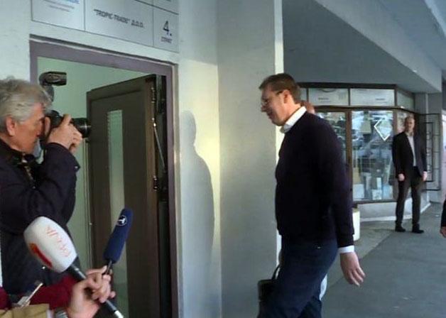 Aleksandar Vucic dolazi u SNS/Tanjug/video