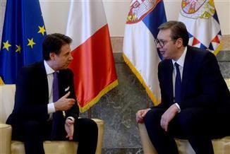Konte i Vučić foto: Tanjug/video