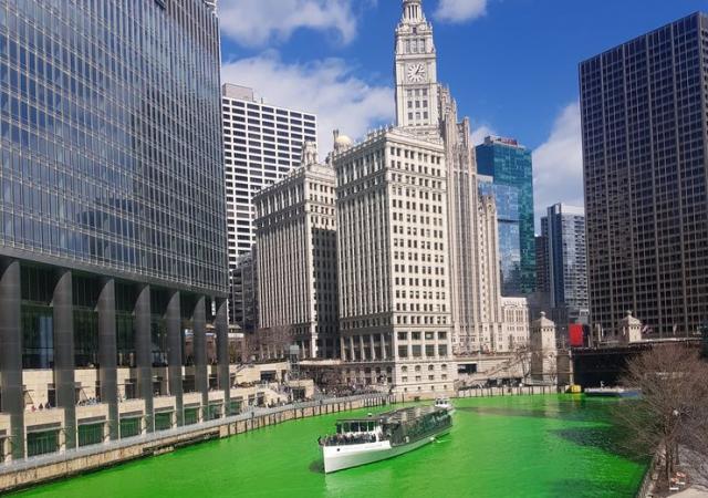 Ekološki obojena reka: Čikago na Dan Sv. Patrika foto: privatna arhiva
