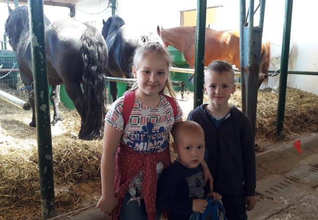 Mališani oduševljeni konjima Foto: Andrej Pap