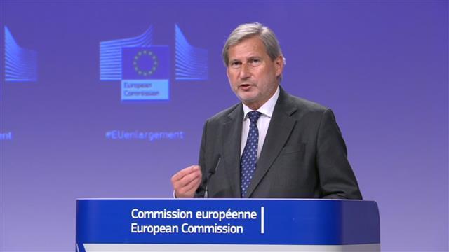 Evropski komesar za proširenje Johanes Han Foto: Tanjug/video