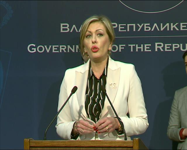 Ministar za evropske integracije Jadranka Joksimović Foto: Tanjug/video