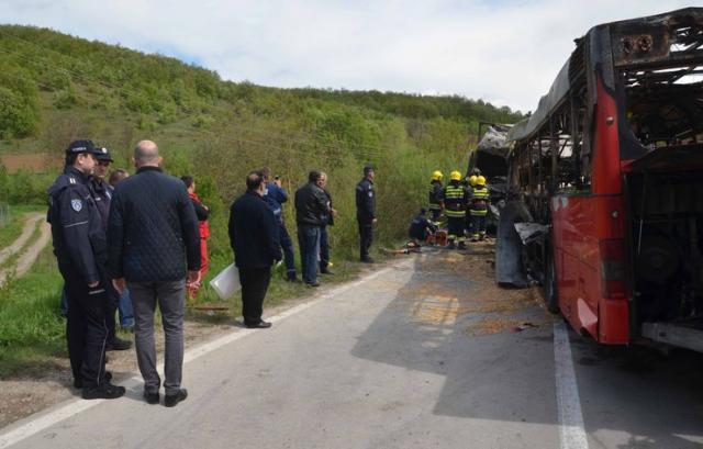 Pet osoba je nastradalo u sudaru kamiona i autobusa na putu Kuršumlija–Prokuplje Foto: Tanjug/ MUP Srbije/Odeljenje za medije i komunikacije