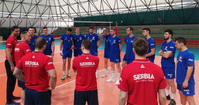 Odbojkaši Srbije na treningu u Milanu/M. Ristić