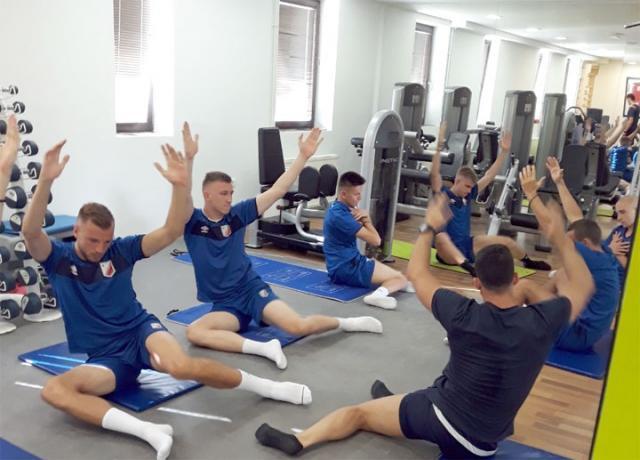 Trening u teretani igraca Vojvodine/A. Predojevic