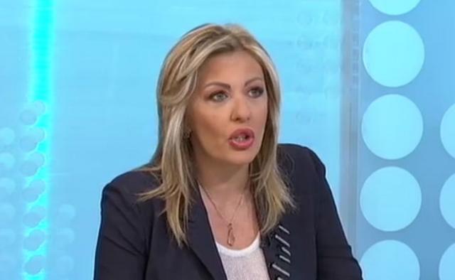Ministar za evrointegracije Jadranka Joksimović na RTS Foto: RTS/skrinšot