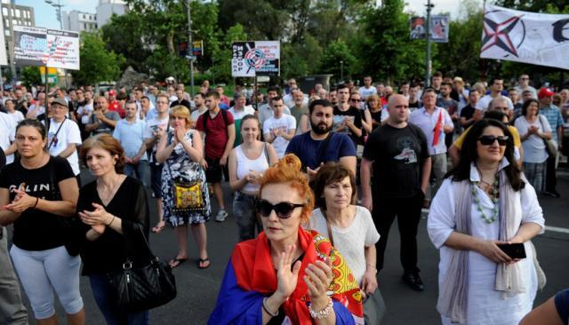 protest sa kosovo, tanjug