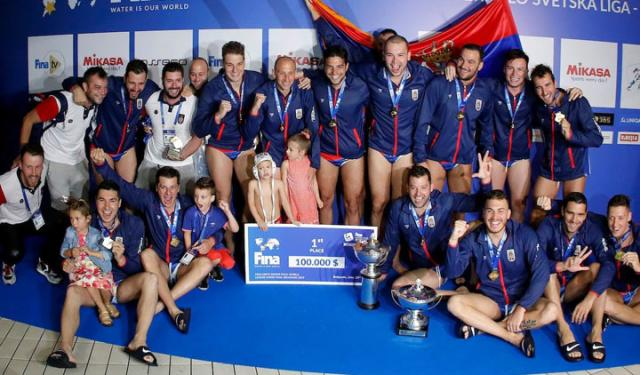 Vaterpolisti Srbije osvojili Svetsku ligu 2019/Tanjug/Z. Žestić