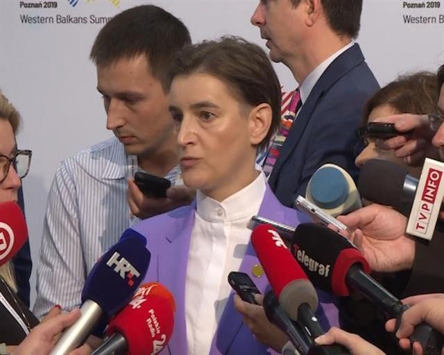Predsednica Vlade Srbije Ana Brnabić u Poznanju Foto: Tanjug/video