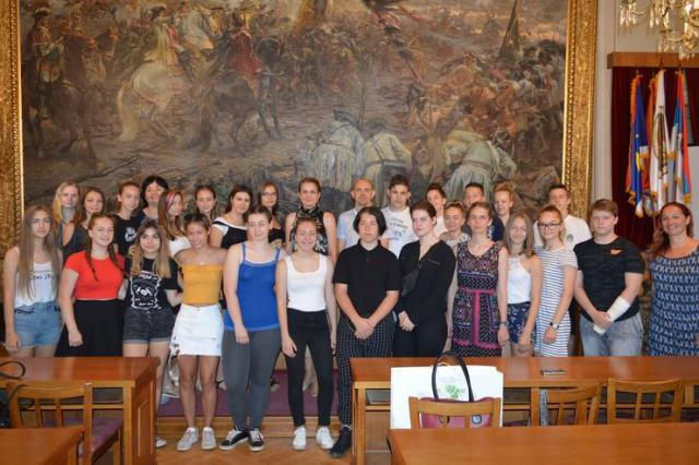 Gosti iz Mađarske u zgradi Županije Foto: M. Miljenović