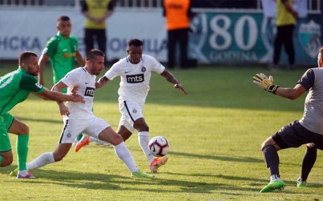 Bambi Tošić i Sejduba Suma/FK Partizan/M. Todorović