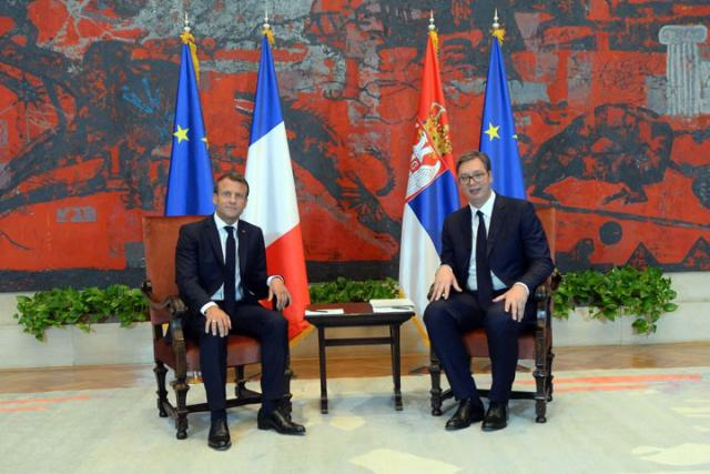 Makron i Vučić/Fonet/Kabinet predsednika republike