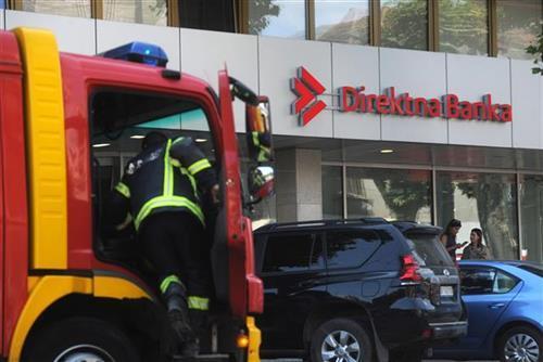 Direktna Banka, ugašen požar u pomoćnoj prostoriji Foto: Tanjug/video