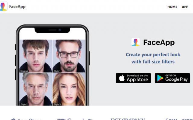 """Aplikacija """"FaceApp"""" Foto: faceapp.com"""
