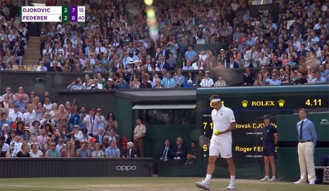 Federer dve meč lopte/Jutjub