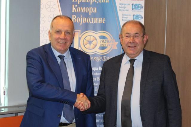 Predsednik Privrednе komorе Vojvodine Boško Vučurević i predsednik Skupštine AP Vojvodine Ištvan Pastor Foto: PKV
